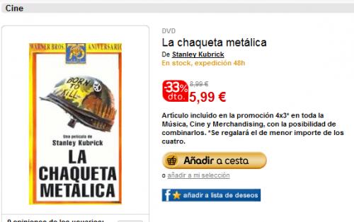"""""""La chaqueta metálica"""" se puede comprar en fnac por 5,99€"""