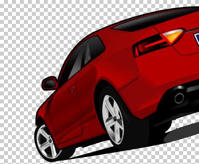 Audi A8 dibujado por Inma Bermejo a partir de una foto de Xabier Martinez